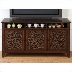 Jofran 698 Series Media Cabinet in Brown in Baroque Brown