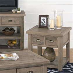 Jofran 940 Series End Table with Straight Legs in Slater Mill Pine