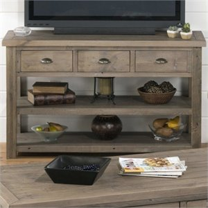 Jofran 940 Series TV Stand with Straight Legs in Slater Mill Pine