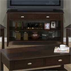 Jofran 1030 Series Media Table with Beveled Accents in Merlot