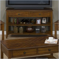 Jofran 1031 Series Media Table in Medium Brown