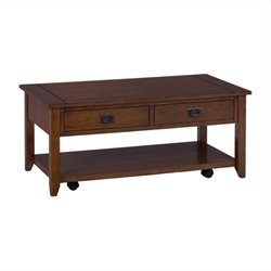 Jofran 1032 Series Rustic Style Cocktail Table in Mission Oak