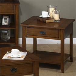 Jofran 1032 Series End Table in Mission Oak
