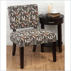 Jofran Upholstered Accent Birds Bella Armless Chairs