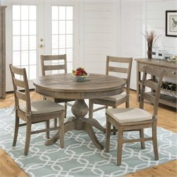 Jofran 941 Series Three Rung Ladderback Dining Chairs in Slater Mill Pine (Set of 2)