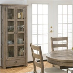 Jofran 941 Series Kitchen or Dining Room Display Cupboard in Slater Mill Pine