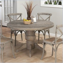 Jofran 856 Series Round Dining Table in Burnt Grey