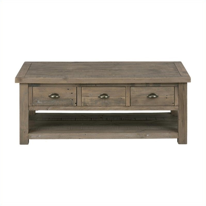 Jofran 940 Series 4 Piece Coffee Table Set in Slater Mill Pine