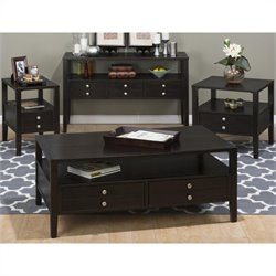 Jofran 975 Series 4 Piece Coffee Table Set in Hamilton Espresso