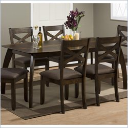 Jofran 738 Series 3-Piece Dining Table Set in Camden Walnut