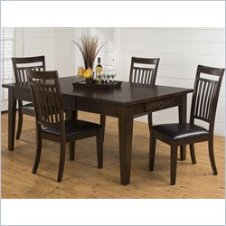 Jofran 981 Series 5-Piece Dining Table Set in Legacy Oak