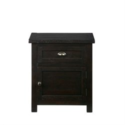 Jofran Prospect Creek Nightstand in Dark Wood