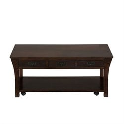 Jofran Artisan Coffee Table in Rich Dark Wood