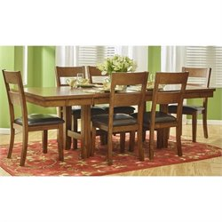 Jofran Plantation Dining-to-Counter Height Adjustable Table in Mango