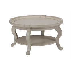 Jofran Sebastian Round Coffee Table in Antique Cream