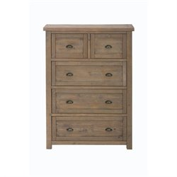 Jofran Slater Mill 5 Drawer Chest in Reclaimed Pine