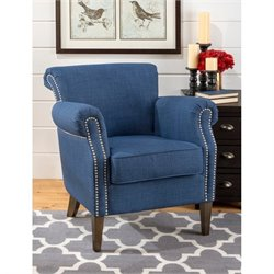 Jofran Emma Accent Chair in Admiral Blue
