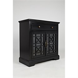 Jofran Craftsman One Drawer Accent Chest in Antique Black