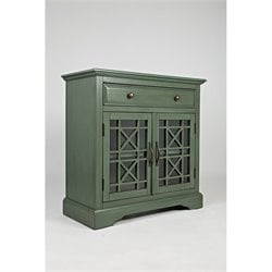 Jofran Craftsman One Drawer Accent Chest in Antique Jade