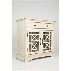 Jofran Craftsman One Drawer Accent Chest in Antique Cream