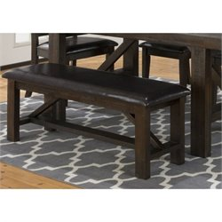 Jofran Kona Grove Upholstered Bench in Deep Chocolate