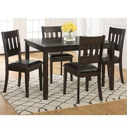 Jofran Dark Prairie 5 Piece Dining Set in Dark Brown