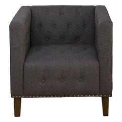 Jofran Zoe Tufted Accent Chair in Charcoal