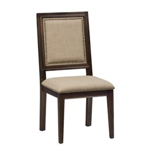 Jofran Geneva Hills Wood Upholstered Dining Chair (Set of 2)