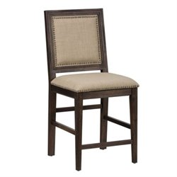Jofran Geneva Hills Wood Upholstered Bar Stool (Set of 2)