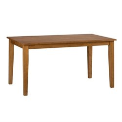 Jofran Simplicity Wood Rectangle Dining Table in Honey