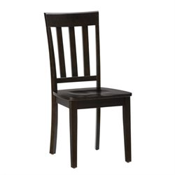 Jofran Simplicity Wood Slat Back Dining Chair in Espresso (Set of 2)