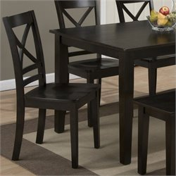 Jofran Simplicity Wood X Back Dining Chair in Espresso (Set of 2)