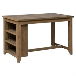 Jofran Slater Mill Wood Counter Height 3 Shelf Dining Table in Brown