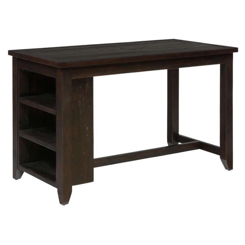 Jofran Prospect Creek Wood Counter Height Dining Table In Dark Brown 257 60