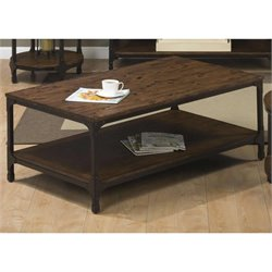 Jofran Urban Nature Wood Rectangle Coffee Table in Pine