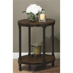Jofran Urban Nature Wood Round Accent Table in Pine