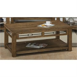 Jofran San Marcos Wood Rectangle Coffee Table in Pine