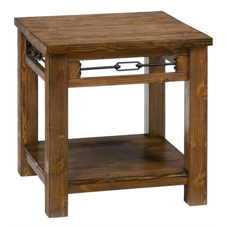 Jofran San Marcos Wood Rectangle End Table In Pine 463 3