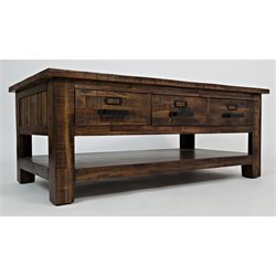 Jofran Cannon Valley Coffee Table in Brown