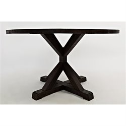 Jofran Pacific Heights Round Dining Table in Chestnut