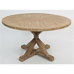 Jofran Pacific Heights Round Dining Table in Bisque