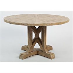 Jofran Pacific Heights Round End Table in Bisque