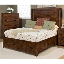 Jofran Coolidge Corner Storage Bed in Brown