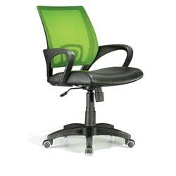 Lumisource Officer Office Chair in Lime Green