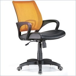 Lumisource Officer Office Chair in Tangerine