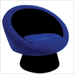 Lumisource Egg Chair in Black/Blue