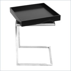 Lumisource Zenn Tray End Table in Black