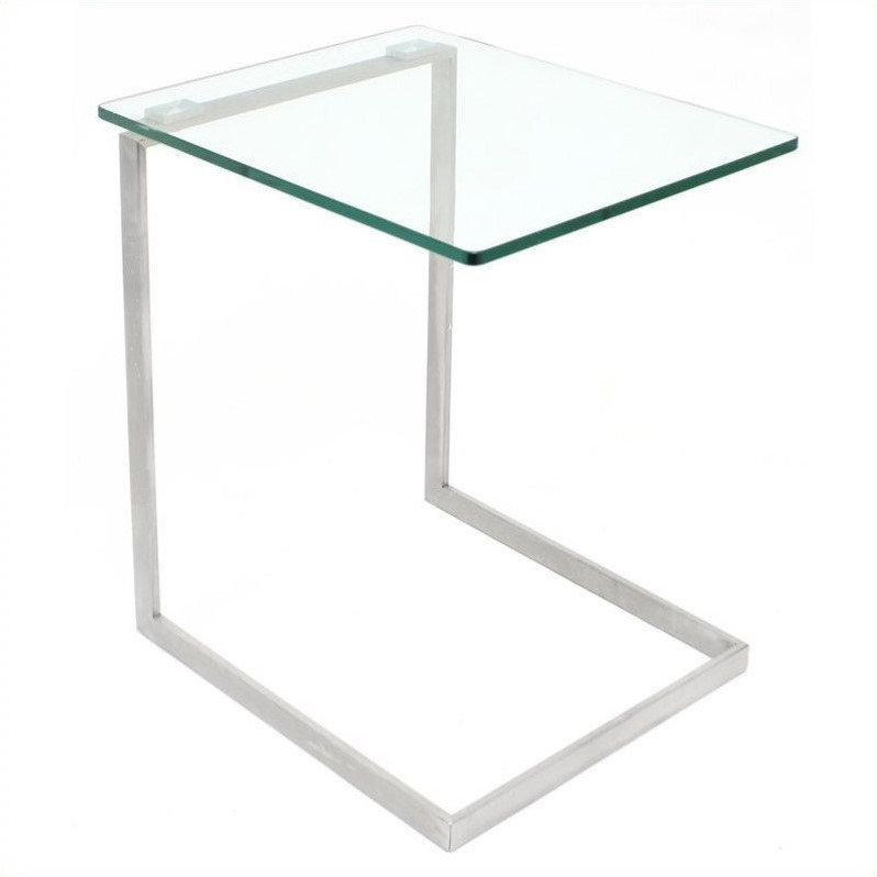 Zenn Glass End Table in Clear