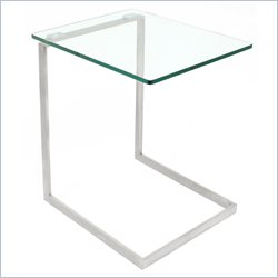 Lumisource Zenn Glass End Table in Clear