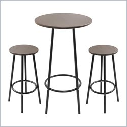 Lumisource Zella Bar Table Set in Espresso